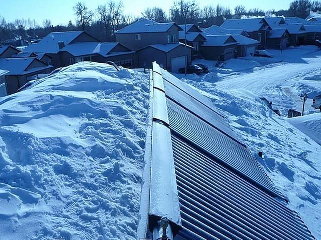 Солнечный коллектор для зимы