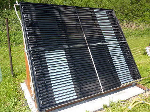 Самодельный солнечный коллектор из пластиковых труб